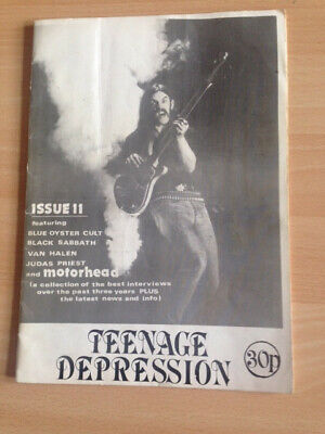 Rare Teenage Depression NWOBHM Fanzine 1979 Motorhead, J Priest, Sabbath, VHalen • 18.10£