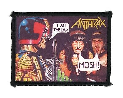 Anthrax - I Am The Law - Judge Dredd - Vintage Patch - New Old Stock • 14.99£