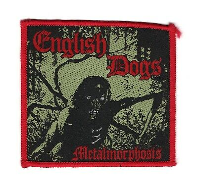 English Dogs - Metalmorphosis - Vintage Woven Patch - New Old Stock • 17.99£