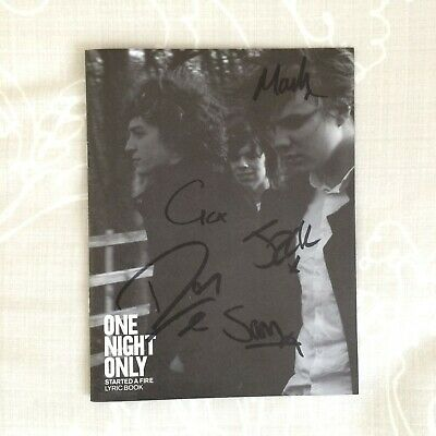 One Night Only Signed Started A Fire Lyric Book Rare Indie Pop • 9.50£