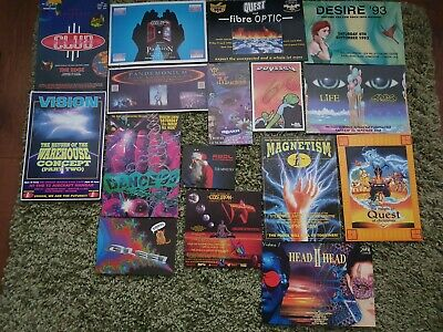 Rave FlyerJob Lot, Bundle, Collection. 16 Flyers Inc Obsession, Dreamscape 92-93 • 4.99£