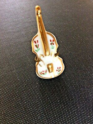 Limoges Miniature Cello Mid 20th Century No Chips/cracks Marked  Limoges France  • 4.99£