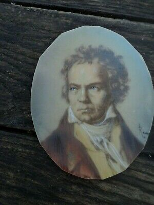 Scarce, Early Twentieth C., Portrait Miniature Image Of Beethoven On Celluloid. • 19.95£