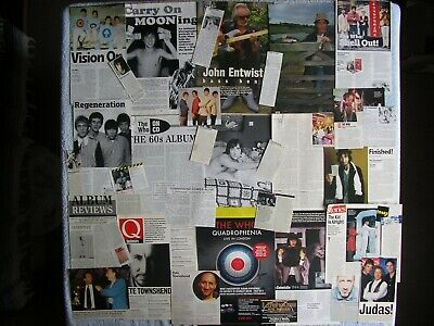 The Who - Magazine Cuttings Collection - Clippings, Articles, Photos X33 • 2.94£