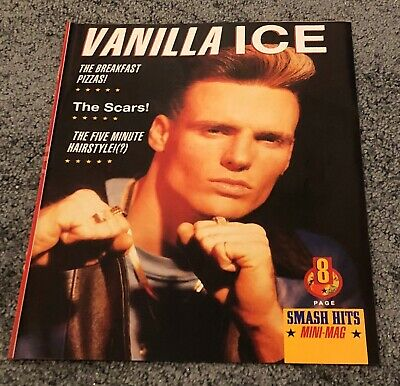 VANILLA ICE 8 Page Pull-Out Poster Magazine • 14.99£
