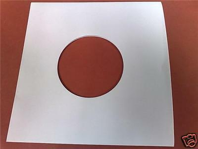 100 X 7  White Paper Record Sleeves / Covers - New - Highest Quality - 90 Gsm • 8.99£