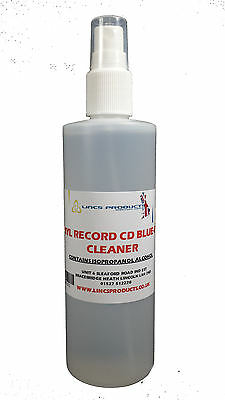 250ml Professional Vinyl Record Cleaner Cd Dvd Cleaning Fluid Spray With Cloth • 6.99£