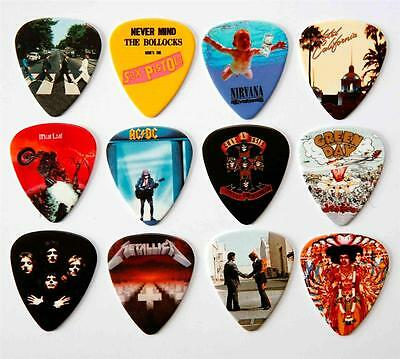 Famous Album Covers Guitar Picks Packet Of 12 Different Plectrums • 7.29£
