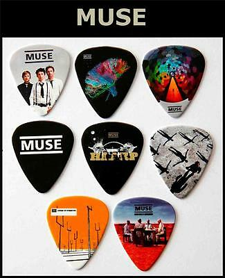 MUSE  Packet Of 8 Full Colour Guitar Picks • 5.99£