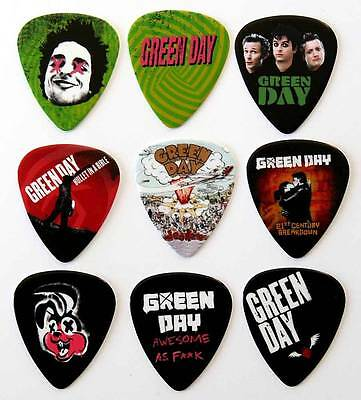 Green Day Guitar Picks - Packet Of 9 Plectrums • 5.99£