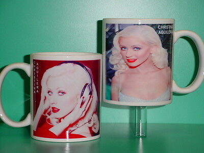 CHRISTINA AGUILERA - With 2 Photos - Designer Collectible GIFT Mug • 11.87£