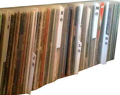 26 X White Plastic 12  Inch Vinyl LP Album A-Z Record Collection Tabbed Dividers • 32.99£