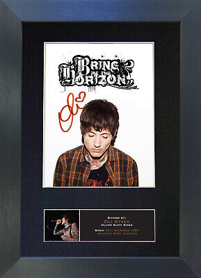 OLI SYKES Signed Mounted Reproduction Autograph Photo Prints A4 538 • 5.99£