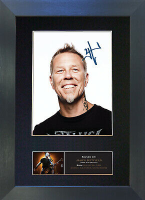 JAMES HETFIELD Signed Mounted Reproduction Autograph Photo Prints A4 473 • 19.99£
