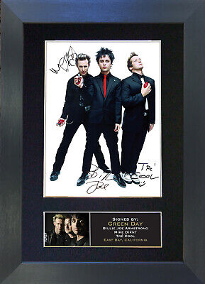 GREEN DAY Signed Mounted Reproduction Autograph Photo Prints A4 196 • 5.99£