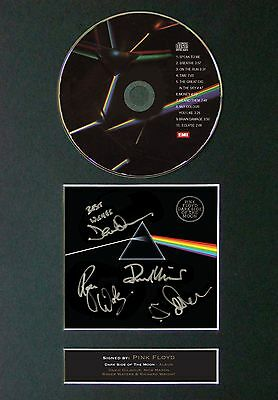 PINK FLOYD Dark Side Of The Moon Signed CD Mounted Reprint Autograph Print A4 60 • 19.99£