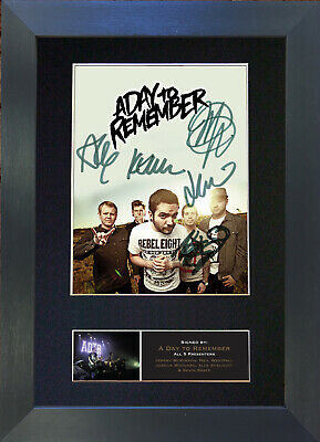 A DAY TO REMEMBER Signed Mounted Autograph Photo Reproduction Print A4 529 • 17.99£
