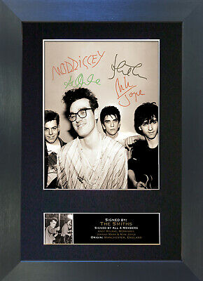 THE SMITHS Signed Mounted Autograph Photo Prints A4 115 • 19.99£