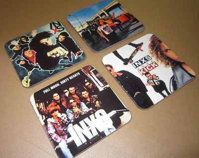 INXS Michael Hutchence  Album Cover COASTER Set • 7.99£