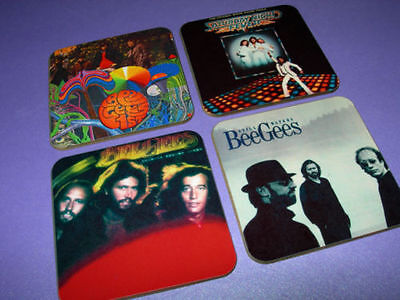 The Bee Gees Album Cover Drinks Coaster Set • 7.99£