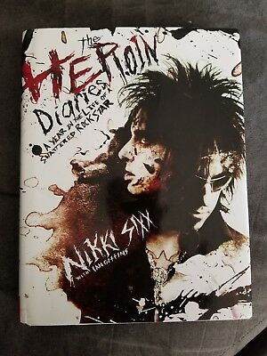 Nikki Sixx The Heroin Diaries Autographed Book First Edition 2007 Signed • 185.21£