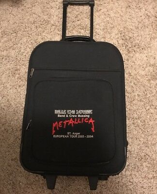 Super Rare METALLICA Rollling Carry On Luggage -Beat The Street Band /Crew Only • 225.14£