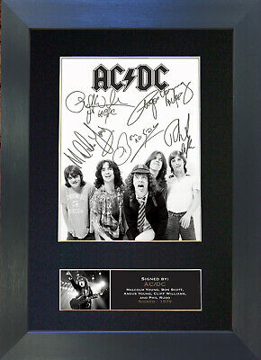 ACDC Signed Mounted Reproduction Autograph Photo Prints A4 689 • 19.99£