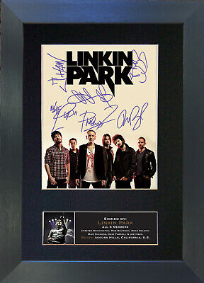 LINKIN PARK Signed Mounted Reproduction Autograph Photo Prints A4 705 • 19.99£