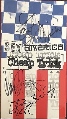 CHEAP TRICK - Genuine Signed Autographs- STUNNING & GENUINE- AFTAL REGISTERED • 199.99£