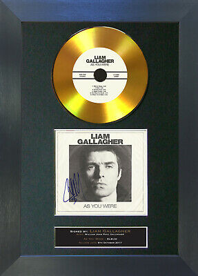 GOLD DISC LIAM GALLAGHER As You Were Signed Autograph Mounted Print 156 • 8.99£