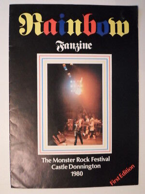Rainbow Fanzine The Monster Rock Festival Castle Donnington 1980 First Edition  • 50£