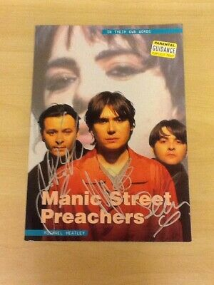 Signed-manic Street Preachers-98 Page Book In Their Own Words-by Michael Heatley • 28.99£