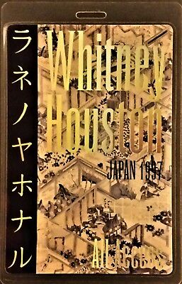 *** WHITNEY HOUSTON ***  LAMINATED BACKSTAGE PASS - Japan Tour 1997 - ALL ACCESS • 19.11£
