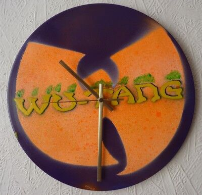 WU-TANG CLAN Inspired Record Wall Clock...spray Paint...art..rappers  • 19.99£