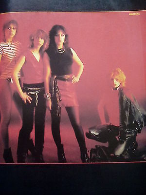Early Girlschool Or Phantom Blue Double Sided Page Picture Music Book 27x19cm • 7.50£