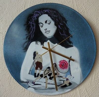 RED HOT CHILI PEPPERS.. Record WALL CLOCK.. MOTHERS MILK...RAMONES..hand Painted • 20.99£