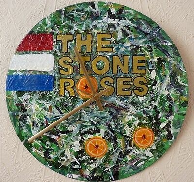 Stone Roses Inspired Wall Clock.. Hand Painted.. Oasis.. Blur  • 20.99£
