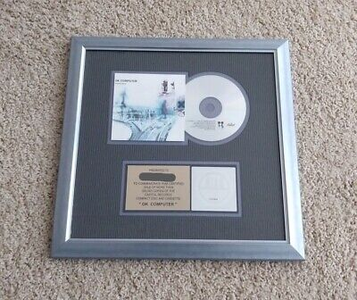 Radiohead OK Computer RIAA Gold Record Plaque RARE Radio Head • 398.28£