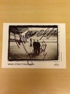 Signed-manic Street Preachers-official Epic Promo Photo 7-inch X 5-inch-m/mint • 15.99£