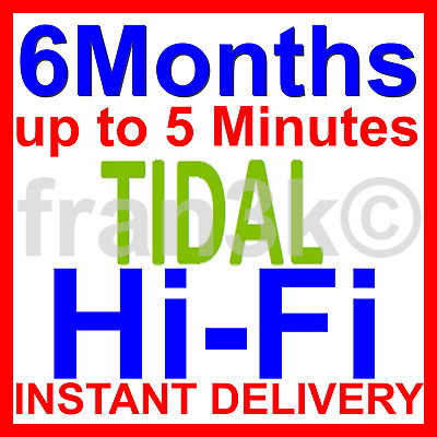 TIDAL HiFi Master || Family 6 Users 6 M0nths || BUY WITH CONFIDENCE | FAST 5 Min • 5.99£