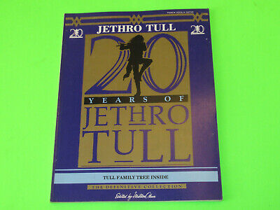 Vintage 1988 Jethro Tull 20 Years  Songbook Guitar Piano Vocal • 15.74£