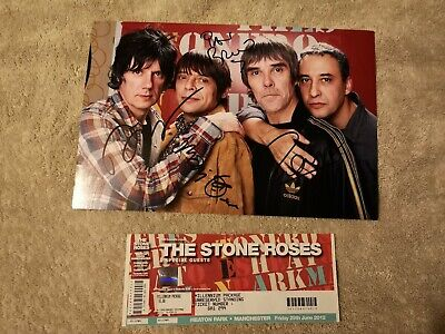 Stone Roses Autograph • 55£