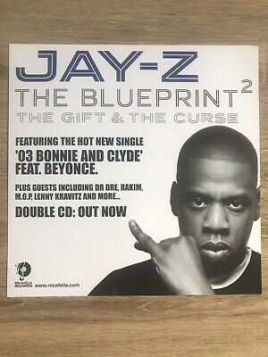 Jay-Z The Blueprint  2 Promo Poster Double Sided Ultra Rare • 14.95£