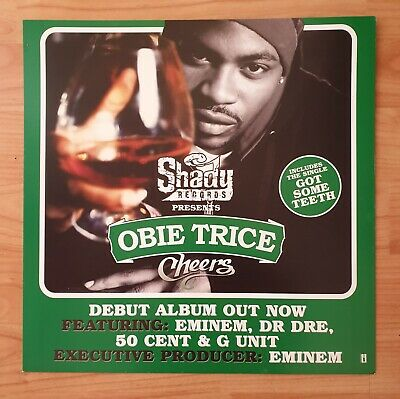 Obie Trice Double Sided Promo Poster Ultra Rare  • 19.95£