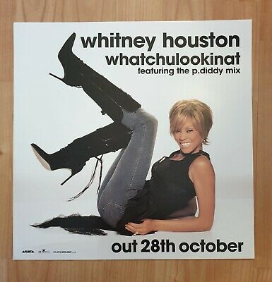 Whitney Houston Promo Poster Ultra Rare  • 29.95£