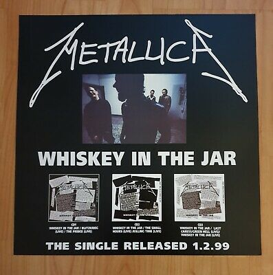 Metallica Whiskey In A Jar Promo Poster Ultra Rare  • 29.95£