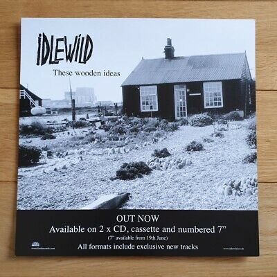 Idlewild These Wooden Ideas Promo Poster Ultra Rare  • 7.95£