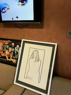 Rare David Bowie Original 1972 Framed 'ziggy Stardust Tour' Promotional Poster • 275£