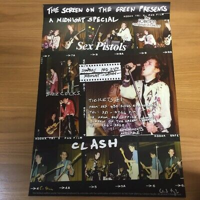 Clash & Sex Pistols Punk Poster Signed By Clinton Heylin & Original Photographer • 29.50£