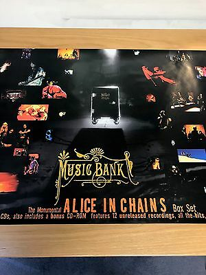 Alice In Chains Original Music Bank Promo Poster From 1999  • 29£